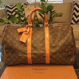 Authentic Louis Vuitton Keepal 45